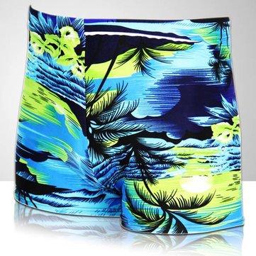 Homens Coco Palm Printing Swimming Trunks Sports Shorts Inner Boxers Swimwear