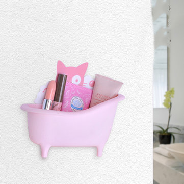 Honana BX-386 Bathtub Modelling Paste Type Storage Box Bathroom Space Saver Deacoration Wall Sticker