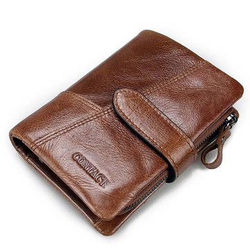 Genuine Leather Wallet Vintage Standstone Men Wallets Male Purse Coin Bag