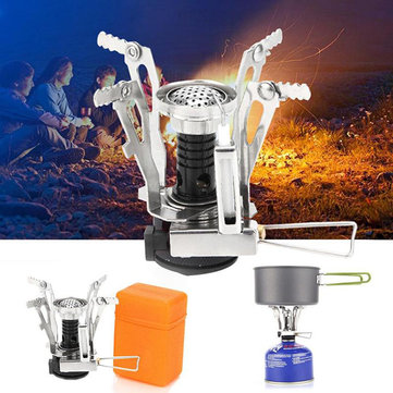 LAOTIE Outdoor Mini Camping Cooking Stove 3000W Portable Ultralight Butane Gas Cooking Furnace