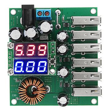 10-30V to 5V 8A DC-DC 6 USB Power Converter High Power Car Power Regulator Module