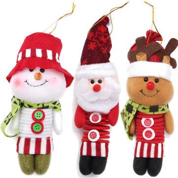 20cm Spring Leg Swing Christmas ตุ๊กตา ซานตาคลอสเครื่องประดับคริสต์มาส