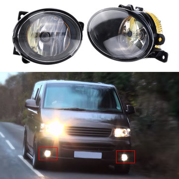 Left/ Right Car Front Fog Lights Spot Lamp with Bulb Amber for VW T5 T5.1 Transporter 2010 On