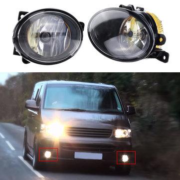 Left/ Right Car Front Fog Lights Spot Lamp with Bulb Amber for VW T5 T5.1 Transporter 2010 On