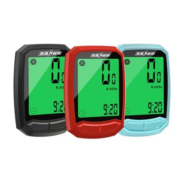 Sahoo 811410 Wireless Cycling Computer Waterproof Bike Digital Speedometer LCD Stopwatch Speedometer