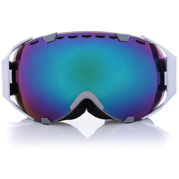Motorcycle Sport Snowboard Ski Goggles Spherical Anti Fog UV Dual Lens Blue Outdooors