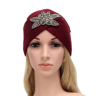 Women Lady Beret Ski Cap Braided Baggy Beanie Crochet Winter Knitted Wool Hat