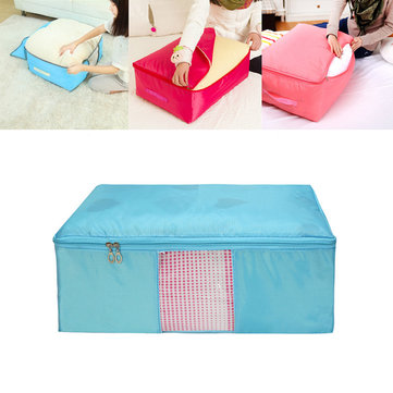 IPRee® 60x50x28cm Waterproof Oxford Washable Quilts Bag Portable Big Size Storage Box with Window