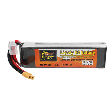 ZOP POWER 11.1V 4000mAh 70C 3S Lipo Battery With XT60 Plug For RC Models