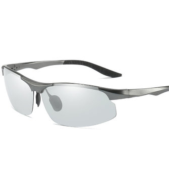 Rimless UV Resistence Polarized Sunglasses For Men