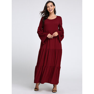 Plus Size Casual Women Flared Sleeve Dresses Dress Barn Plus Sizes
