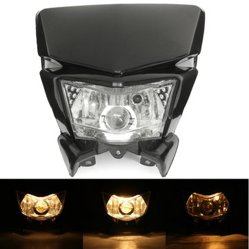 12V Motorcycle Fairing Headlight Lamp Hi/Lo Beam Street Fighter Dirt Bike Universal