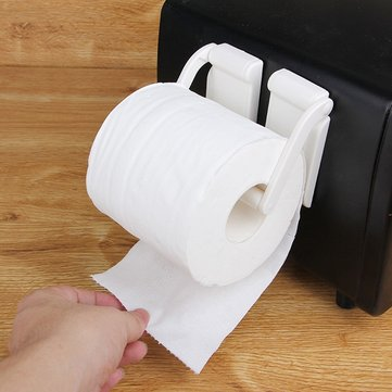 Honana Magnetic Reel Holder Towel Napkin Rack Refrigerator Side Wall Roll Paper Stand Wall Hanging Paper Towel Holder Kitchen Bathroom