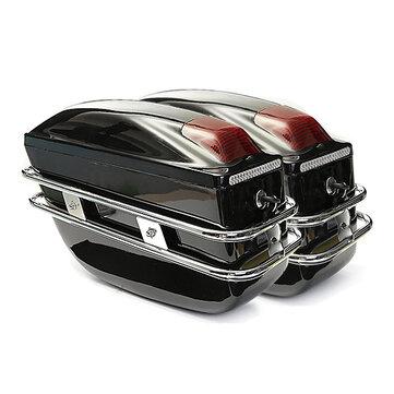 쌍 오토바이 대용량 Sidebags 할리에 대 한 빛없이 하드 트렁크화물 상자