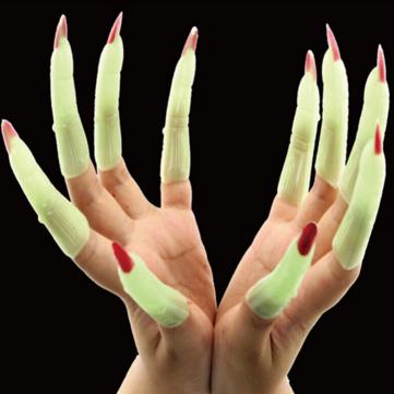 Halloween luminoso vampiro un'unghia festa in costume prop