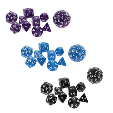 10Pcs Multi Sided Dices Set for RPG Dungeons & Dragon Role Play Game Gift