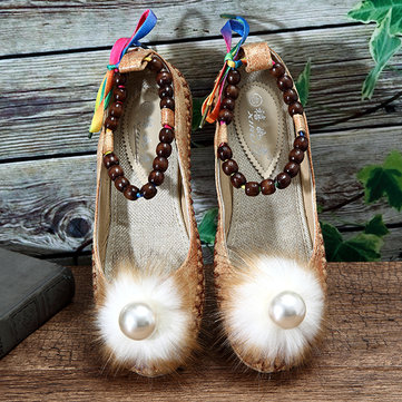 US Size 5-11 Women Beading Colorful Comfortable Flats Loafers