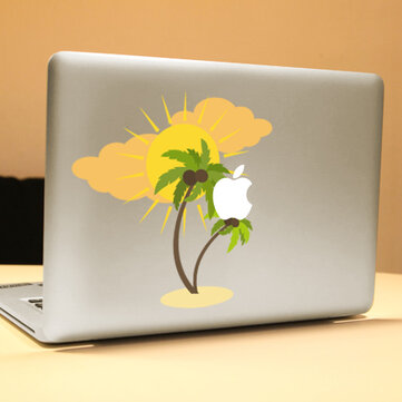 PAG Coconut Tree Decoratieve Laptop Decal Verwijderbare Bubble Gratis Zelfklevende Skin Sticker