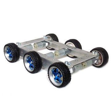 DIY 6WD Metal Smart RC Robot Car Chassis Base Kit With 12V CGM-25-370 Motor