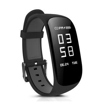 Z17 HR 0.96inch OLED Real-Time Heart Rate Monitor Pedometer Smart Bracelet For iphone X 8 Samsung S8
