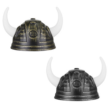 Bull Ox Horns Hat Viking Hat Halloween Prop Plaything for Kids Costume Party