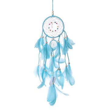 Handmade Christmas Light LED Light Feather Dream Catcher Home Party Wedding Decor Gift