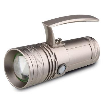 XANES ER698 4x50W LEDs 4 Colors Light Zoomable Charging Indicator UV Flashlight Fishing Lamp