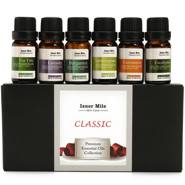Isner Mile 6pcs Pure Essential Oil Collection Set 10ml