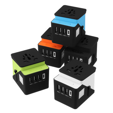 AU/UK/US/EU Universal Travel Adapter 3 USB Plug Power Outlet Type C Socket Adapter International