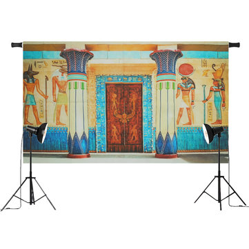 5x3FT 7x5FT Egyptian Frescoes Wall Photography Backdrop Studio Prop Background