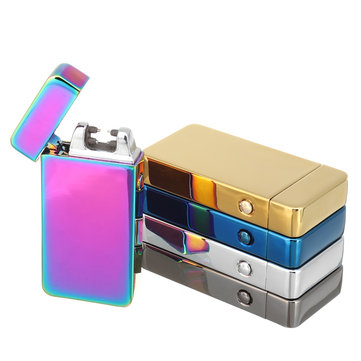Atomic Dual Arc USB Electric Rechargeable Flameless Windproof Pulse Lighter Tools For Cigarette