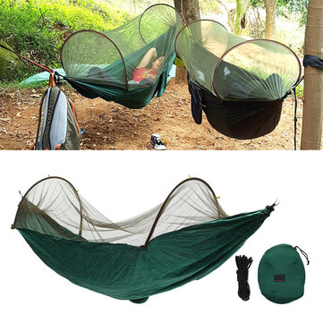 290x145cm Durable Outdoor Camping Hanging Hammock Bed Mosquito Sleeping Gear Mesh Gauze Protection