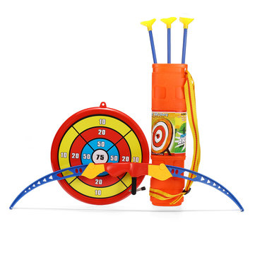 54cm Kids Toy Bow & Arrow Archery Target Aiming Shooting Set Outdoor Garden Fun Game Toy