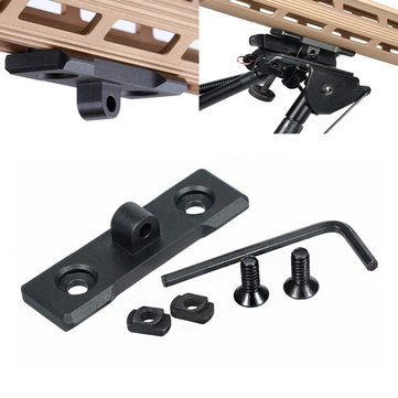 Tactical M-LOK Bipod Mount Outdoor Hunting Handguard Adapter Aluminum Alloy Mlok Accessories