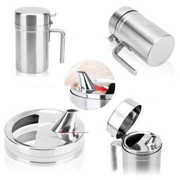 550/1200ml Leak Proof Oil Dispenser Stainless Steel Pourer Vinegar Cruet Kitchen Flavouring Tool