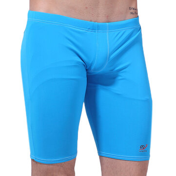 WANGJIANG Mens Casual Breathable Beach Surf Shorts Solid Color Tight Long Swimwear