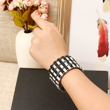 JASSY® Punk Gun Black Plated Crystal Anallergic Bracelet