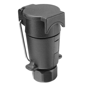 7 Pin Plastic Trailer Long Socket 7 Hole Plastic Plug Socket With Cover
