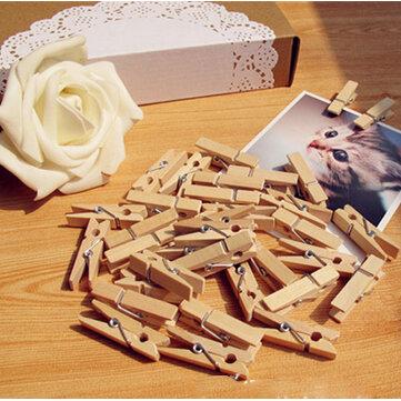 100pcs 35 millimetri naturale Photo legno graffette