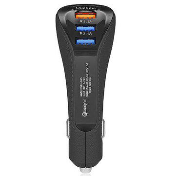 Quelima QC3.0 USB Chicken Leg Second Generation Fast Car Charger