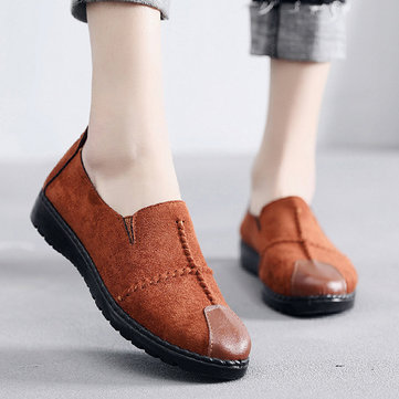 Women Casual Suede Slip On Breathable Soft Sole Loafers