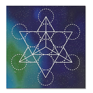 50x50cm Flower Of Life Crystal Grid Cloth Sacred Geometry Healing Tablecloth Beautiful Decorations