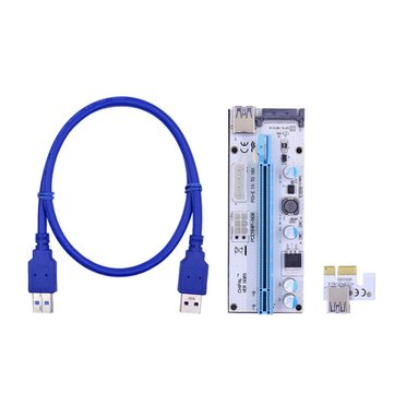 PCI-E 1x To 16x USB 3.0 Mining Extender Board Riser Card GPU Expansion Card Adapter Mining Cable