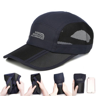 Summer Quick-dry Breathable Mesh Baseball Caps Foldable Thin Outdoor Sunshade Cap For Men Women