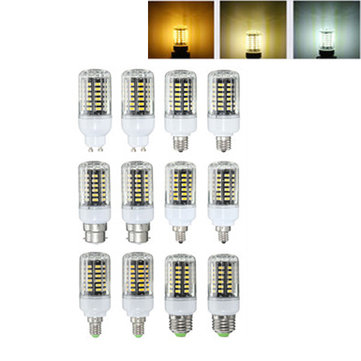 E27 E17 E14 E12 GU10 B22 5W 500LM LED Warm Pure Natural White Corn Light Blub AC85-265V