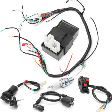 150cc 200cc 250cc Wiring Harness Loom Solenoid Coil Regulator CDI for ATV Quad Bike