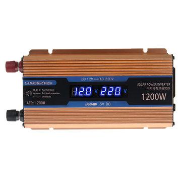 500W Power Inverter Dual LCD Display DC 12V to AC 220V Modified Sine Wave Inverter