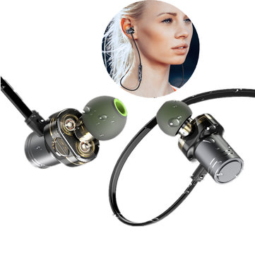 Awei X670BL Wireless Bluetooth Earphone Dual Dynamic Drivers Bass Waterproof Sports Headphone