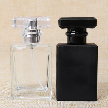 Portable Transparent Glass Perfume Bottles With Aluminum Atomizer Empty Cosmetic Case For Travel