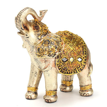 7Pcs Resin Mini Exotic Elephants Ornaments Elephant Home Office Decoration Decorative Hardware